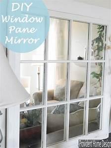 DIY Window Pane Mirror Home Pinterest