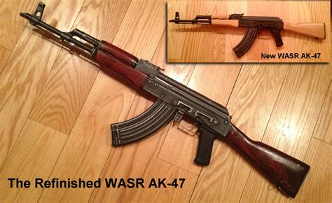 How To Paint Distressed Furniture Black by Refinishing Romanian Wasr 10 Ak 47 Rifle Offroaders Com