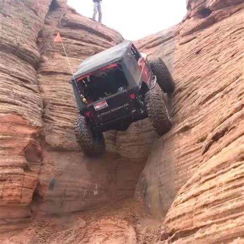 Jeep Climbs Near Vertical Rock Photos Video Car
