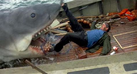Jaws 2 Boat Attack by Quint Is Devoured From Jaws 1975