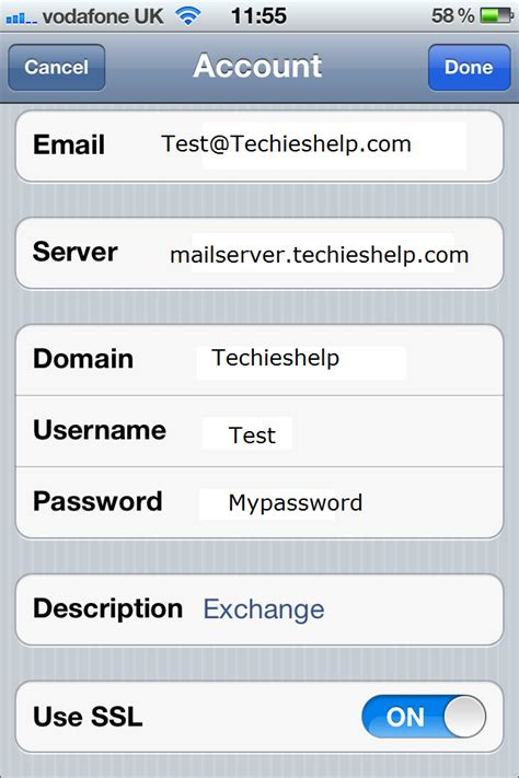 exchange email on iphone setup or iphone to connect to microsoft exchange 2007