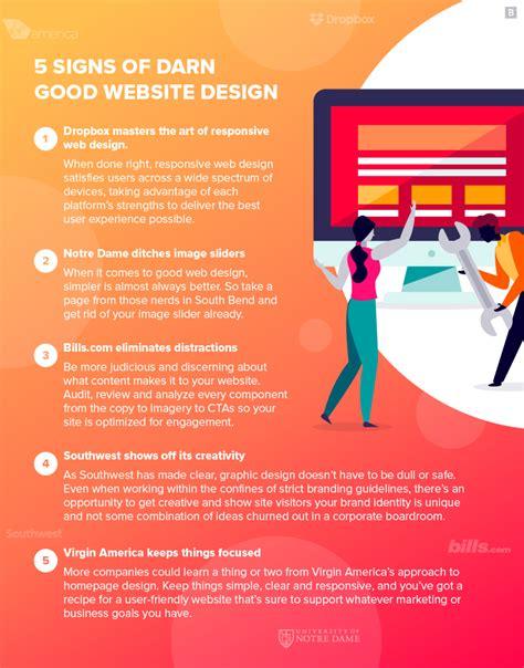 signs  darn good website design  examples brafton