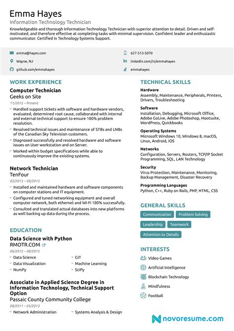 it resume template it resume for 2019 professional exles guide