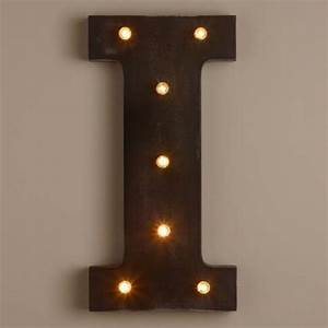 Letter i led battery operated marquee light world market for Battery operated marquee letters