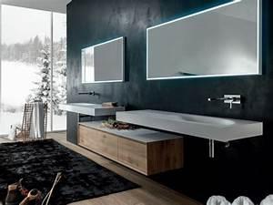 Meuble Salle De Bain Suspendu : shape evo meuble pour salle de bain suspendu by falper ~ Melissatoandfro.com Idées de Décoration