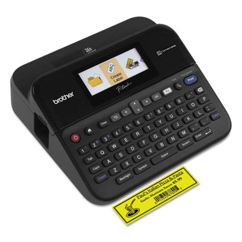 color label maker brtptd600 p touch 174 pt d600 pc connectable label
