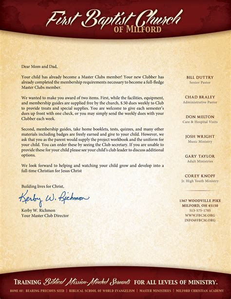 membership new member welcome letter home www masterclubs org 73739