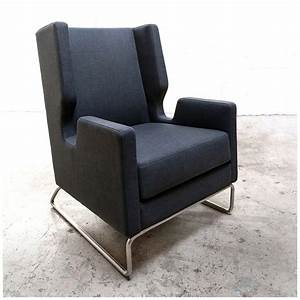 Gus Modern Danforth Urban Tweed Ink Chair