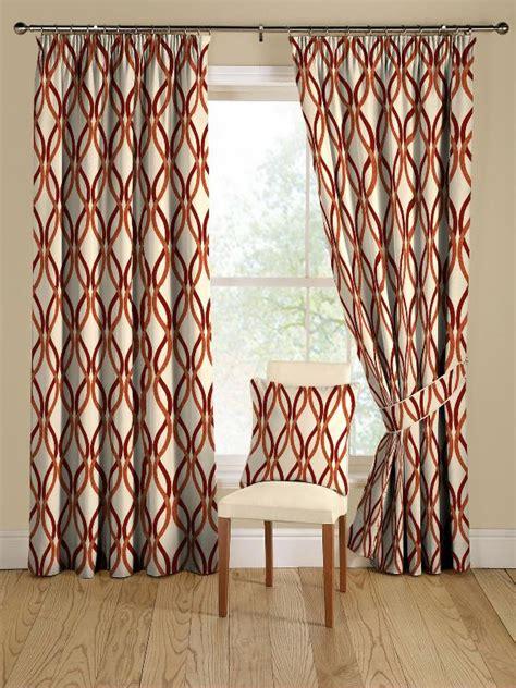 red  orange modern geometric curtains decoist