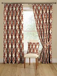 red patterned curtains Drapery Ideas for the Modern Home