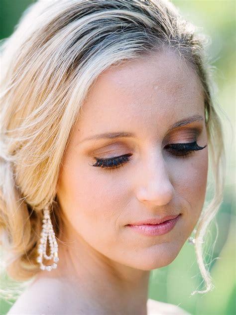 wedding makeup  blue eyes