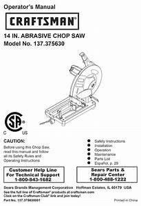 Craftsman 137 375630 Operator U0026 39 S Manual Pdf Download