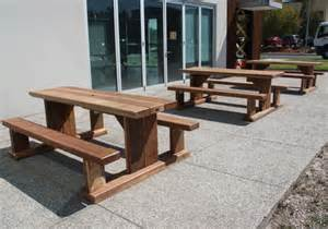 Planter With Bench by Solid Timber Outdoor Cafe Tables And Cafe Furniture Made