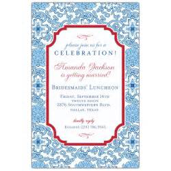 bridesmaids invitations blue china bridesmaids luncheon invitations paperstyle