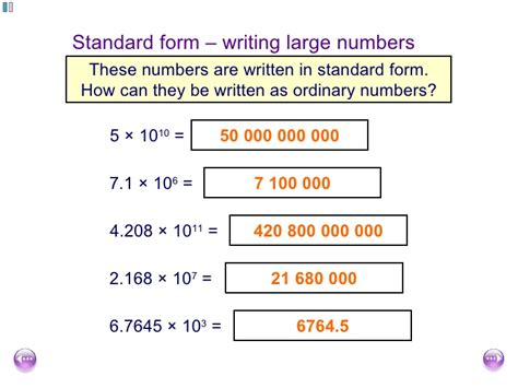 Number Full Form by Fishlock Lesson One Standard Form