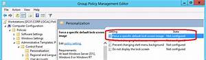 How to use Group Policy to change the Default Lock Screen ...