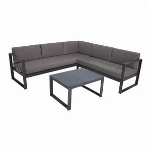 Marquee steel silverleaves corner sofa set bunnings for Outdoor sectional sofa metal