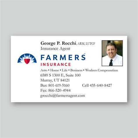 The impact however is great. Farmers Insurance Business Cards - Maximage Printers