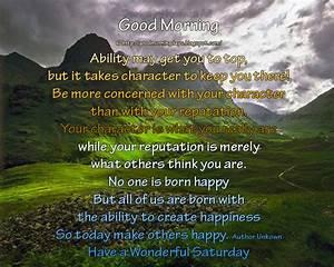 Self Improving Inspiring Quotes: Good Morning Saturday ...