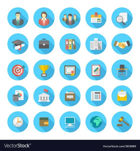flat resume icons royalty free vector image