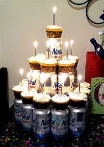 Cupcakes & your man's favorite beer--Cute idea for my ...