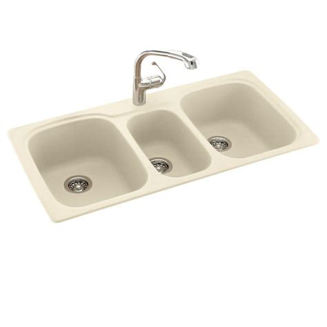 three basin kitchen sink blanco undermount granite 24 in 0 single 6104