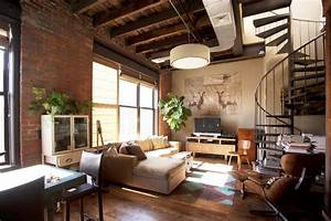 25, Phenomenal, Industrial, Style, Living, Room, Designs, With, Brick, Walls