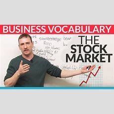 Business English Vocabulary The Stock Market · Engvid