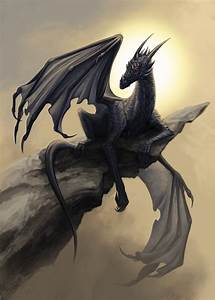 Black dragon by Alaiaorax on DeviantArt