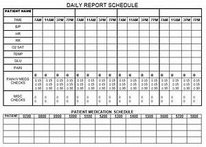 Daily report schedule nursing pinterest nurse brain for Nursing templates for documentation