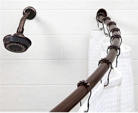 bath bliss curved shower curtain rod only 22 reg 122