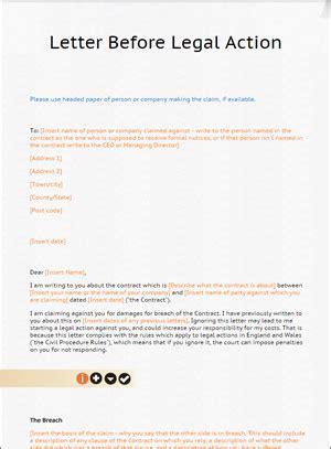 letter  action template  lawbiteletter