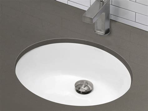 Decolav Oval Vitreous China Undermount Lavatory Sink With