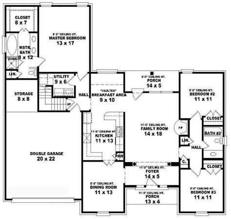 1 Bedroom 1 Bath House Plans by Lovely 3 Bedroom 2 Bath 1 Story House Plans New Home