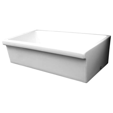 white single bowl kitchen sink whitehaus collection quatro alcove reversible farmhaus