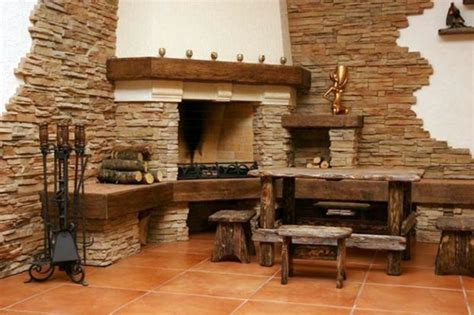 If you like stone wall design, you might love these ideas. Cheap wall covering with artificial stone   Interior ...