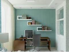 Office Blue Wall Paint White Bookshelving Workbench Home Office Ideas Trash To Treasure Upcycled Metal Paper Organizer Meadow Lake Road Modern Office Desk With Chairs And File Cabinets In Beautiful Office Home Office Design Ideas