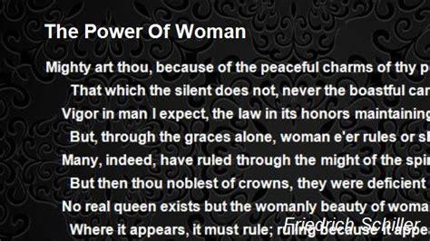 power  woman poem  friedrich schiller poem hunter