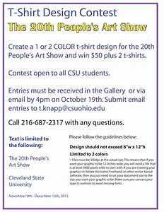 peoples art show t shirt design contest csu photo With t shirt design contest template
