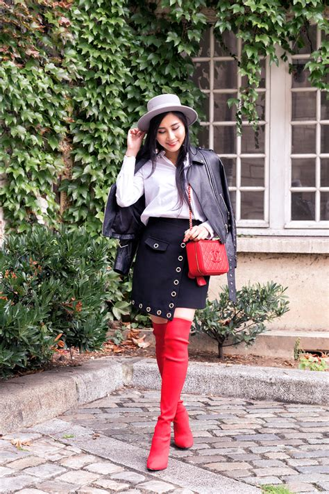 Styling the u0026#39;Itu0026#39; Shoes of the Season Red Over The Knee Boots - OF LEATHER AND LACE