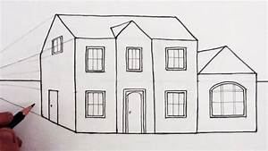 Draw House One Point Perspective Narrated Youtube ...