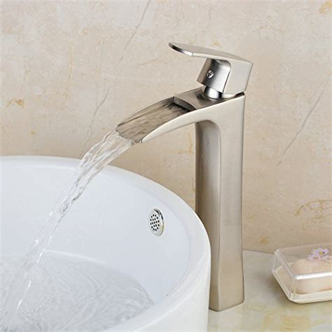 vessel sink waterfall faucets amazoncom