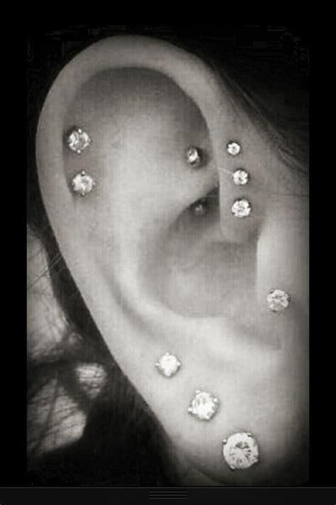 pretty ear piercings ear piercings pinterest