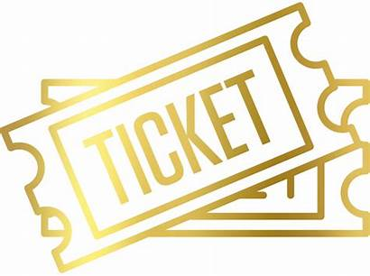Ticket Tickets Gold Clipart Vip Admission Basketball