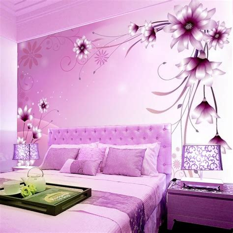 Pink And Purple Wallpaper For A Bedroom  Ohio Trm Furniture