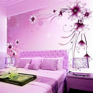 Pink And Purple Wallpaper For A Bedroom - Ohio Trm Furniture