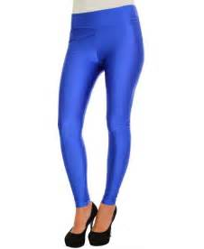 krisp super stretchy wet look blue leggings krisp from
