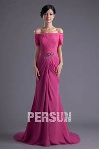 robe demoiselle d39honneur longue avec epaule degagee With robe epaule dégagée