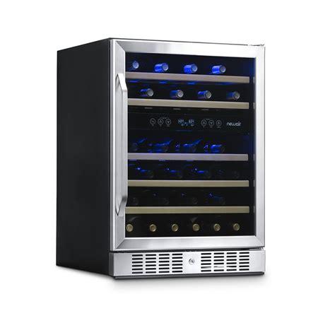 newair awr db  bottle wine fridge built  dual