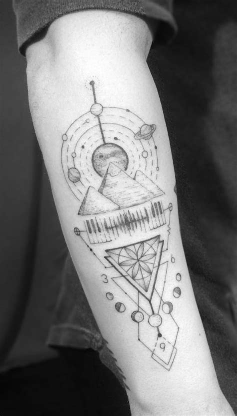 24 Creative Arm Tattoo Designs For Men That All Women Love. A simple linework or geometric